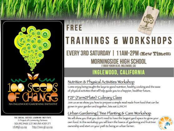 SJLI Training & Workshop Flyer - F2P Culinary Club