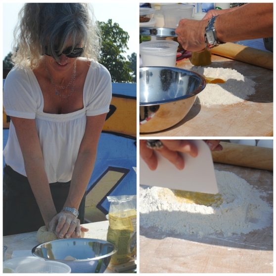 Carolyne Making Pasta Dough Collage - F2P Culinary Club