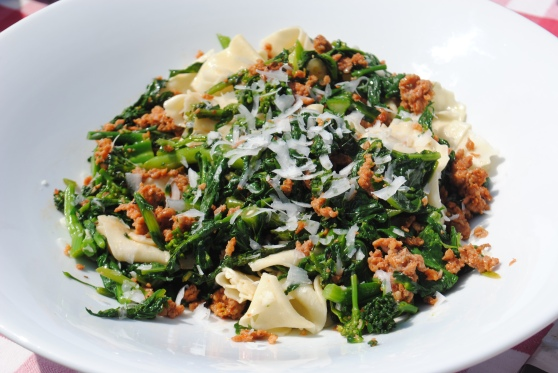 Fresh Pasta with Italian Sausage and Broccoli Rabe - F2P Culinary Club